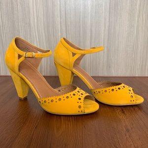 Yellow Open Toe Heels